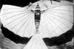 """Photo of Gustave Whitehead's first to fly airplane"
