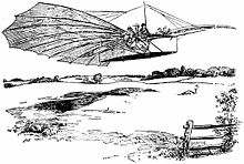 Illustration of the first flight that appeared in the Bridgeport Sunday Herald, Aug. 18th, 1901.