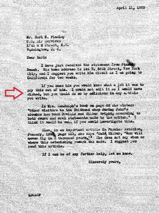 Gardner writes Findley about the final Beach statement, revealing how to best use it and that he couldn't edit it fully as he wished, but Findley can.