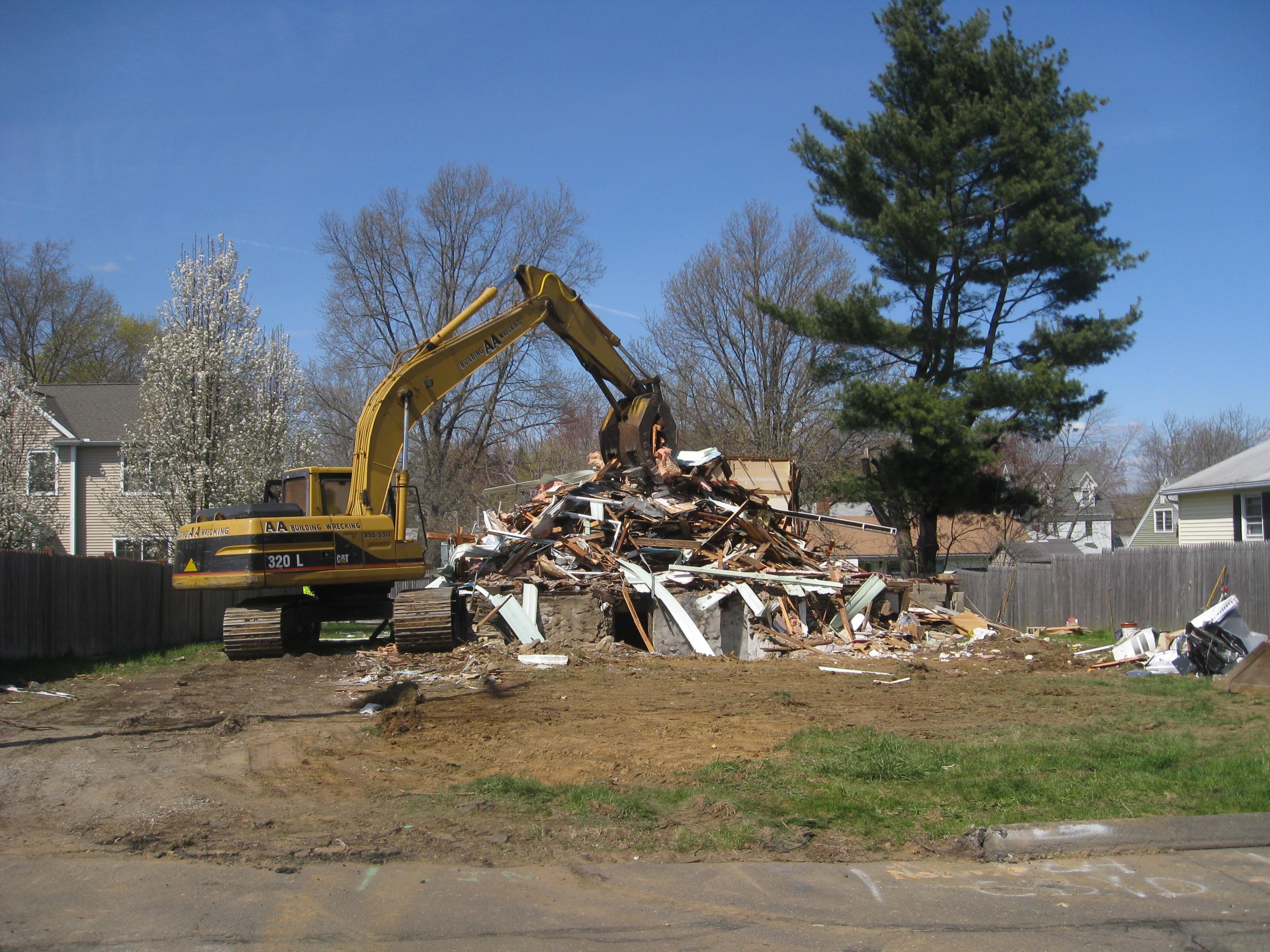 Whitehead Home after demolishion