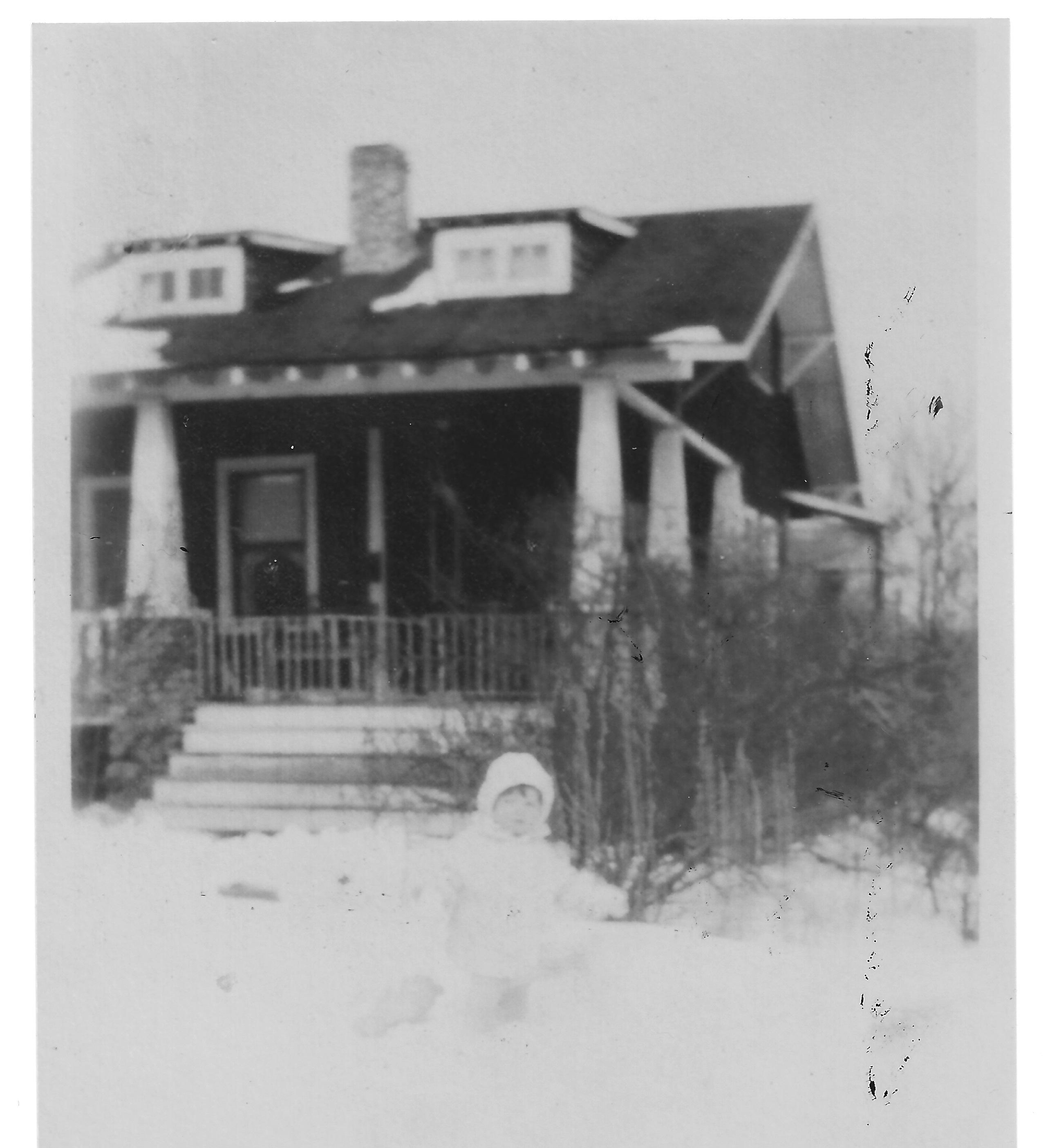 Gustave Whitehead's self-built Alvin Street home circa 1930's