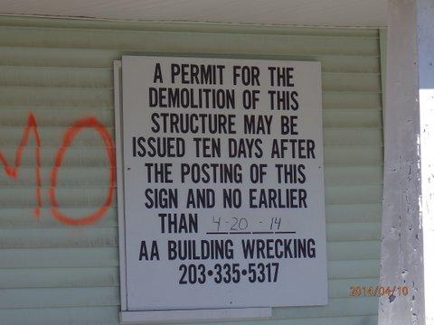 184 Alvin Street, Fairfield, CT Demolition Notice