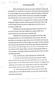 """Smithsonian-Wright Agreement of 1948"" page 1"